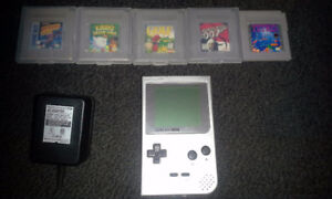 GameBoy Pocket with 5 games and power adapter