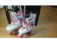 Childs adjustable flashing roller skates