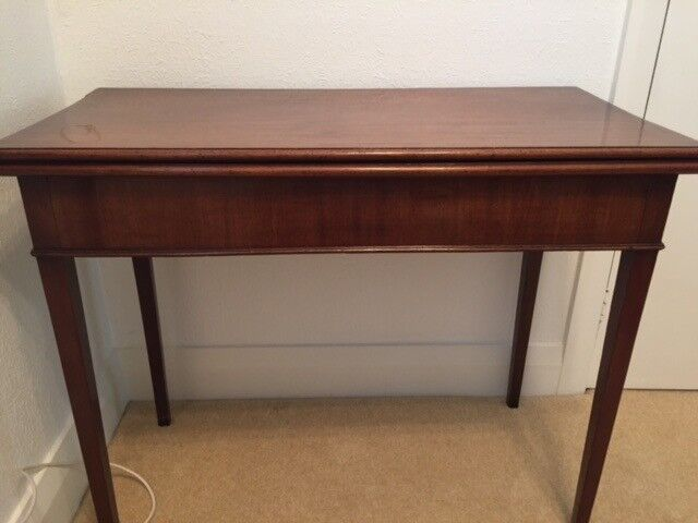 Antique Card Table Which Fold Out Early 1900 In Stockton On Tees