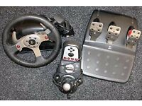 Logitech GT25 Steering Wheel + Gran Turismo 5 Game