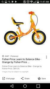 Fisher-Price learn to balance bike