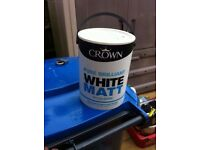 Brand New Crown Pure Brilliant White Matt Emulsion 5L