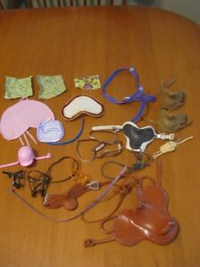BARBIE DOLL SADDLES AND TACK FOR HORSES