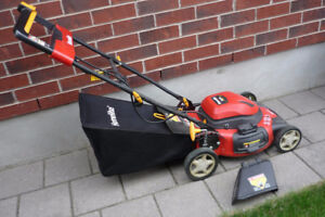 "Full size 20"" steel deck electric lawn mower excellent"