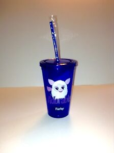 Furby Insulated Cold Cup with Lid and Straw