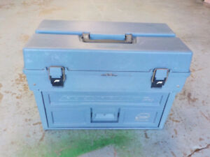 huge tackle box and,hunting seat,ice auger