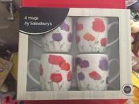 Pack of 4 mugs from sainsburys