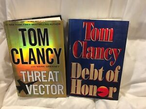 2 Tom Clancy hard cover books