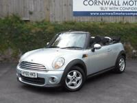 MINI CONVERTIBLE 1.6 ONE 2d 98 BHP NEW MOT AND SERVICE (silver) 2010