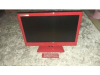22inch dvd combi hd ready in red