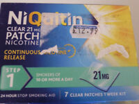 NIQUITIN CLEAR PATCHS STEP 1 = 5 WEEK CORSE £ 38 ovno