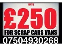07504930268 sell your car van motorcycle for cash scrap non runners mot failures