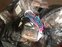 Costume jewellery brand new and in packaging equivalent to 6 black bags full.
