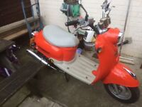 50cc direct bike Tommy scooter full mot retro
