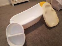 baby bath foam insert and wash basin