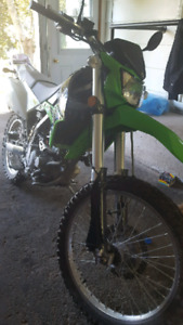 2014 KLX 250s street and trail
