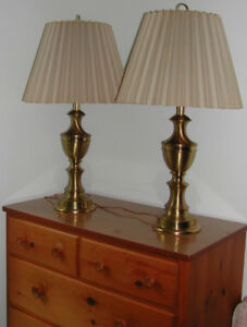 Solid Brass Lamps $45.00 each. Negotiable !!