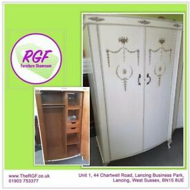 SALE NOW ON!! French Louis Style Wardrobe With Shelves - Can Deliver For £19