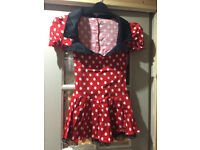 halloween minnie mouse dress size 8