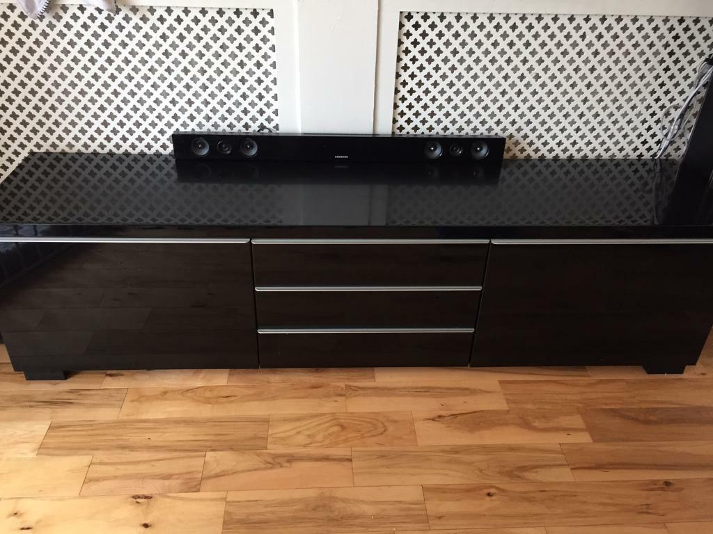 ikea tv unit / bench. besta burs black gloss | in paisley ... - Mobili Tv Besta Ikea