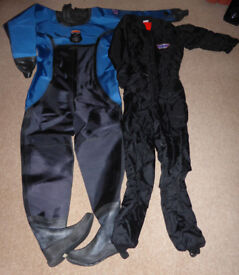 New Roho Commercial Scuba Diving Dry Suit, Thinsulate undersuit and accessories