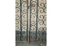 1 Pair of Wrought Iron gates approx 8 feet wide