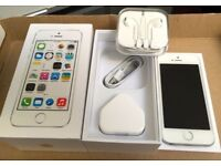 iPhone 5S, 16 gb, Perfect condition, Vodafone, Silver, Boxed, Can deliver