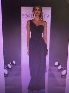 Sorella Vita 8201 bridesmaid dress CHARCOAL size 12-16