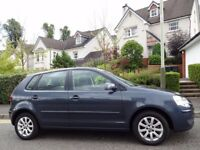 (2007) VW POLO 1.4 SE 5dr AUTOMATIC 1 LADY OWNER/ONLY 50K MILES/FSH+INVOICES/MOT 1 YR/VERY RARE AUTO