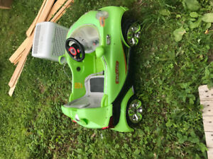 Trike, battery powered vehicle, sled, changing pad, pillow pool