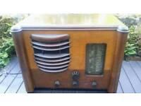 Rare vintage Sobell 615 valve radio