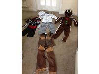 Pirate,chef,cowboy and ginger bread man kids costume
