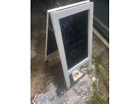 Black board a frame 75cm high