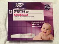 Boots ovulation test kits x14