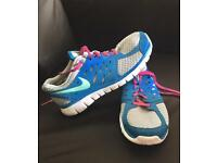NIKE 2013 FLEX Pink and Blue Shoes