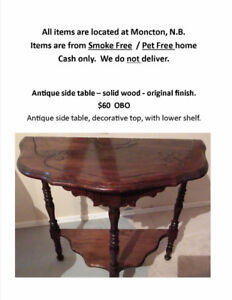 Multiple items: furniture, lamps, paintings