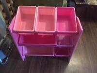 Pink storage rack