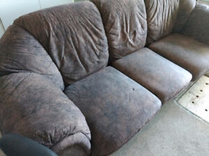 Sofa, Loveseat + with Office Chair