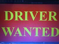 Part time and full time Driver for local takeaway required.