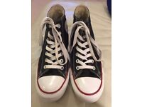 Converse high tops built in wedge, style Chuck Taylor All Star size UK 6