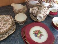 Vintage bone china tea sets would be great for party's or tea rooms