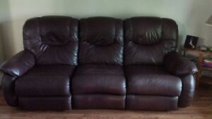 Italian leather sofa.