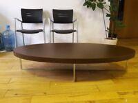 Matrix oval coffee table