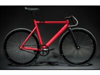 Red Fixed Gear Road Bike/Fixie bike