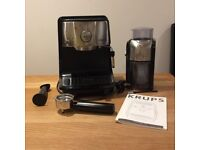 Krups espresso machine XP4020 and coffee grinder