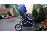 Mothercare Xpedior Three Wheel Pram / stroller + Carseat