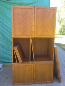 2 pc Custom Built Entertainment Centre (Built in Wall Unit)