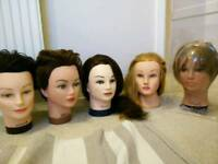 Training dolls heads college hairdressing