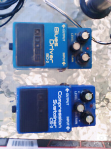 Blues Driver and Compression Sustainer