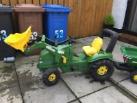 Rolley tractor and trailer for kids